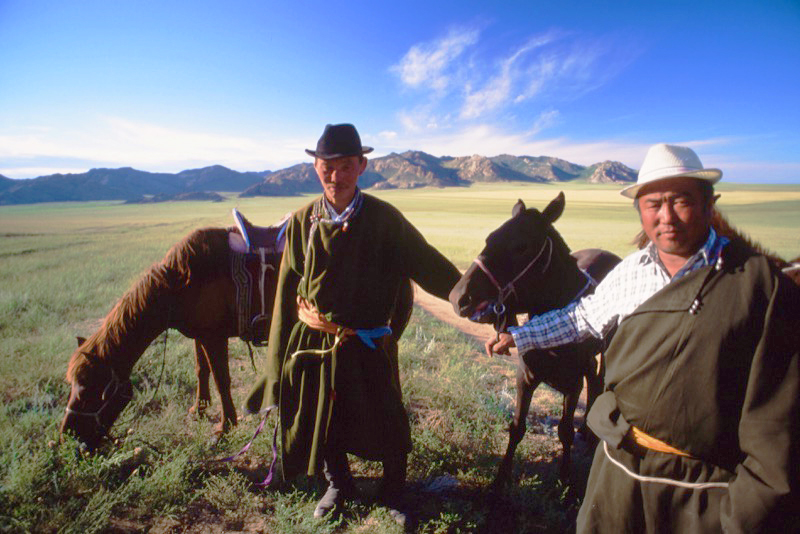 Nomadic herders in the heart of Mongolia. Photo credit: Peter Guttman