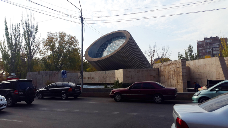 One of Yerevan's Soviet-era modernist metro stations. Photo credit: Anya von Bremzen
