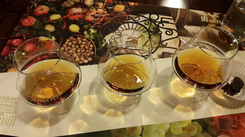 A cognac tasting in Yerevan's Ararat Brandy Factory. Photo credit: Anya von Bremzen
