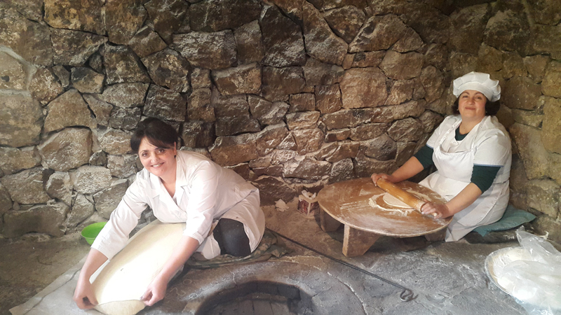 Making lavash, Armenian flatbread. Photo credit: Anya von Bremzen