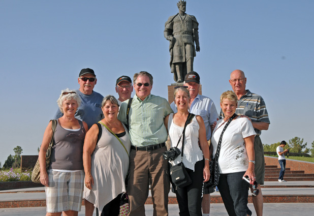 MIR President Douglas Grimes in Uzbekistan with the adventurous Canadian couple, along with their extended family and friends. Photo credit: Douglas Grimes