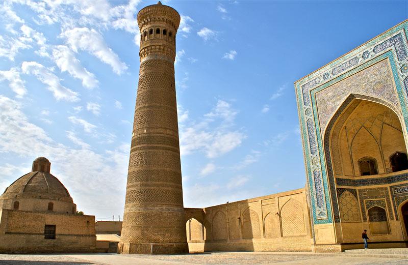 The stunning Kalon Mosque complex in Old Town Bukhara, Uzbekistan. Photo: Caroline Eden