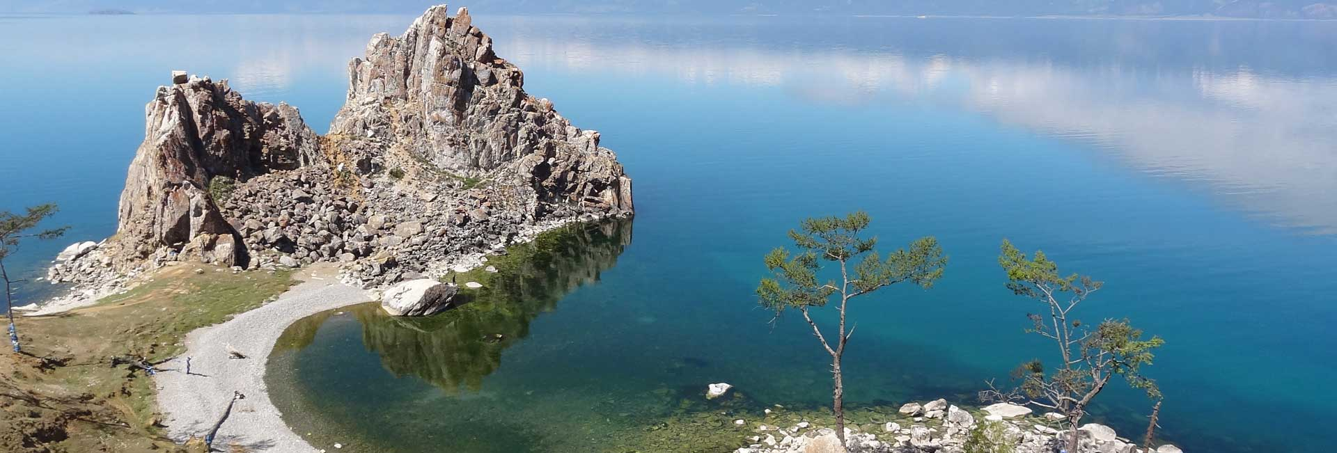 Sacred Shaman Rock on Siberia's Olkhon Island, Lake Baikal. Photo credit: Vladimir Kvashnin