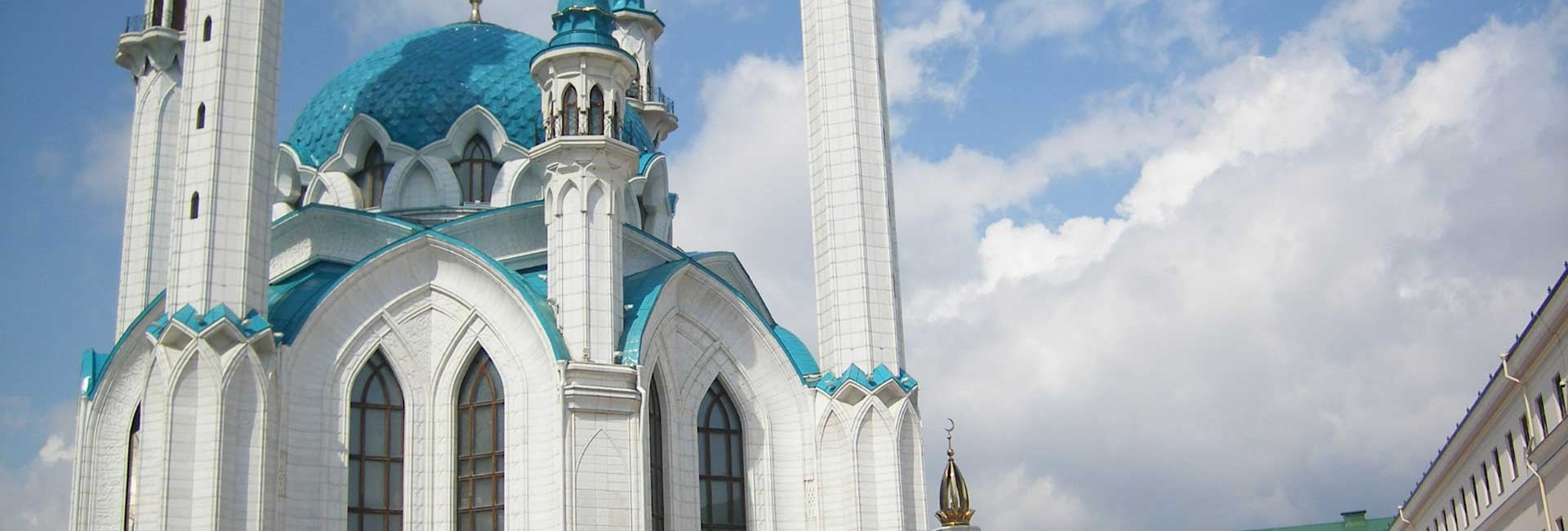 Kul Sharif Mosque in Kazan, Russia's largest mosque. Photo credit: Douglas Grimes