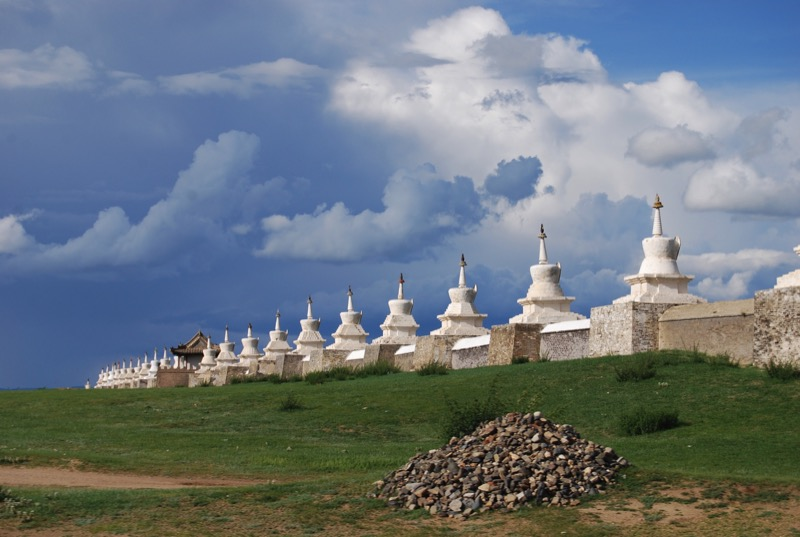 The ruins of Kara Korum, Genghis Khan's fabled capital city, were used in the construction of Mongolia's Erdene Zhu Monastery, located nearby. Photo Credit: Douglas Grimes