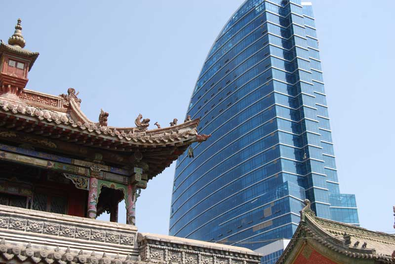Old and new in Ulaanbaatar, Mongolia. Photo credit: Douglas Grimes