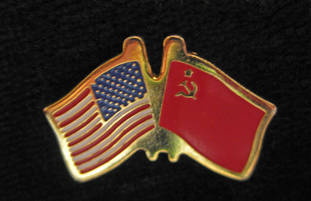 This U.S.-U.S.S.R. lapel pin is a reminder of MIR's goodwill beginning, back in 1986. Photo credit: Helen Holter