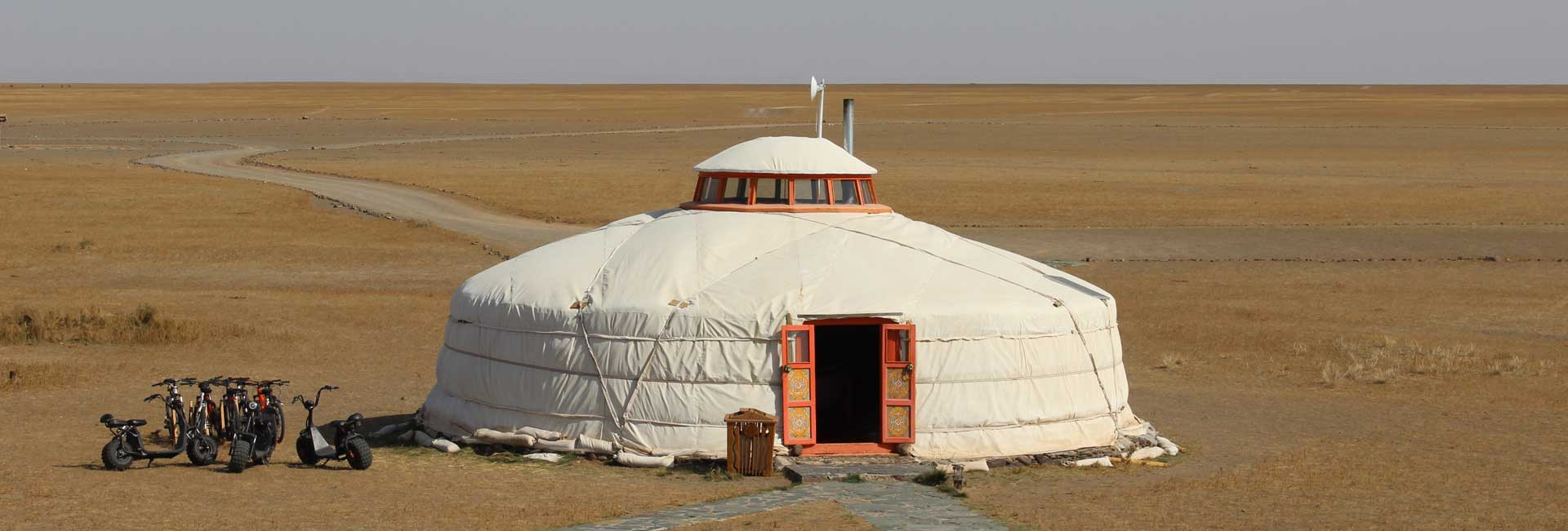 A ger on the Mongolian steppe. Photo credit: Tia Low