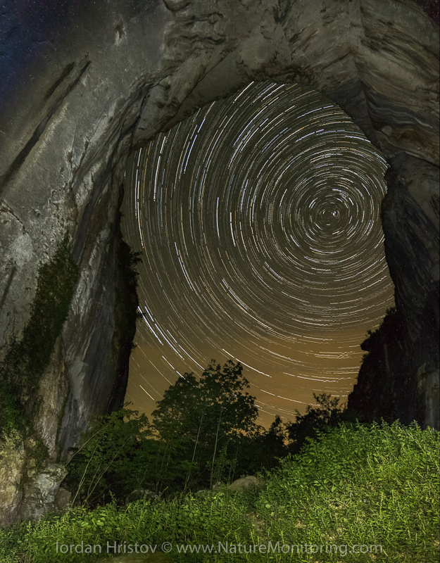 A starry night outside Karlukovo Cave in Bulgaria, yet another popular place to go birdwatching. Photo credit: Iordan Hristov / www.naturemonitoring.com
