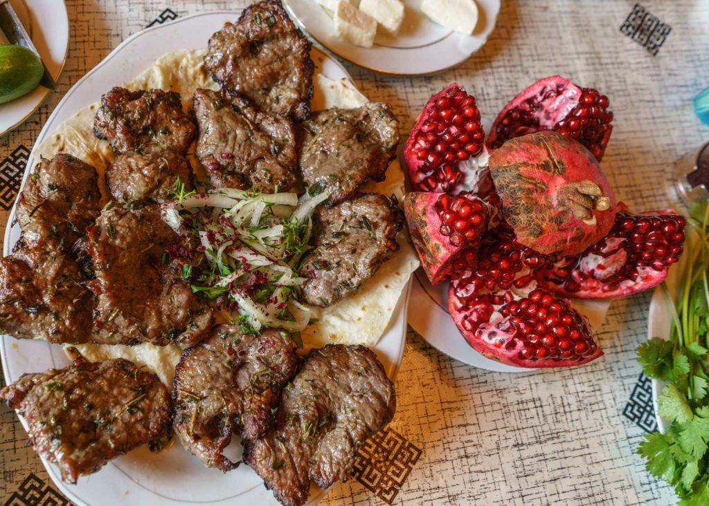 Mouthwatering kebabs in Azerbaijan. Photo credit: Jered Gorman