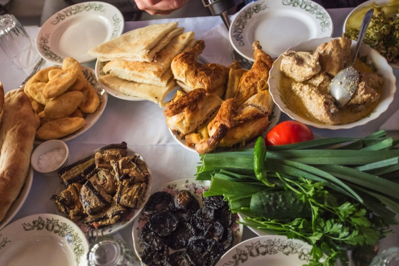Farm-to-table feast in a Georgian vineyard home. Photo credit: Kees Sprengers