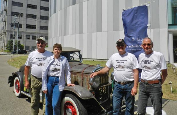 """Adventurous """"Longest Race"""" participants: Leo Janssens, Eileen Bjorkman, Leo Rizzuto, and John Quam. Photo credit: Eileen Bjorkman"""