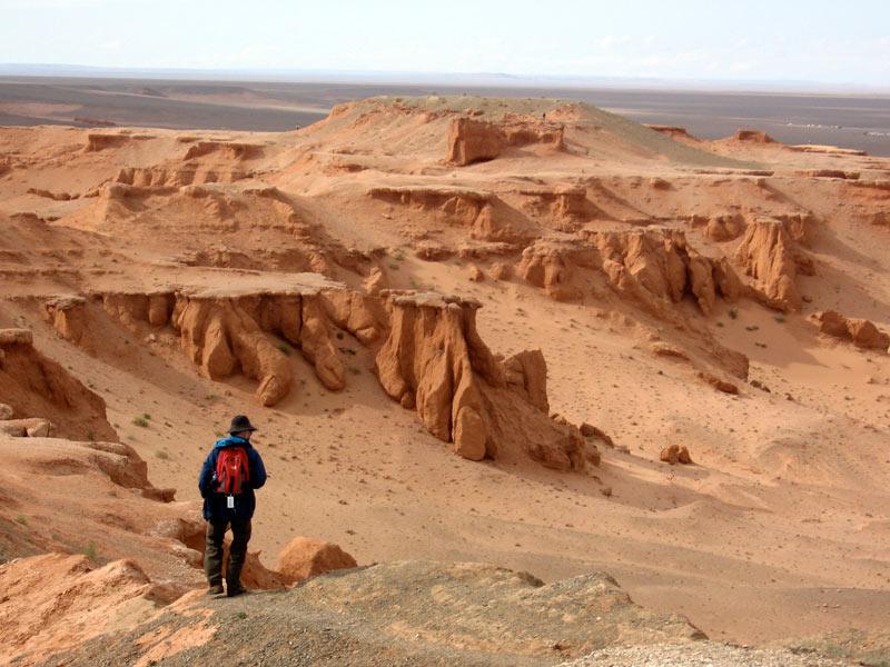 Flaming Cliffs of the Gobi Desert. Photo credit: Andrew Barron