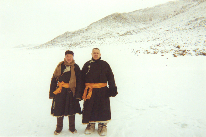 Author Jack Weatherford with a Mongolian friend. Photo credit: Jack Weatherford