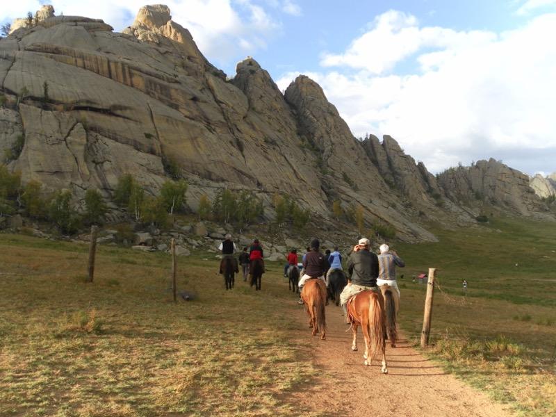 Riding horses in Gorkhi-Terelj National Park, Mongolia. Photo credit: Martin Klimenta