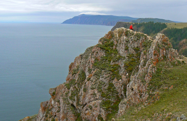 A solitary moment in Siberia on Lake Baikal. Photo credit: Martin Klimenta
