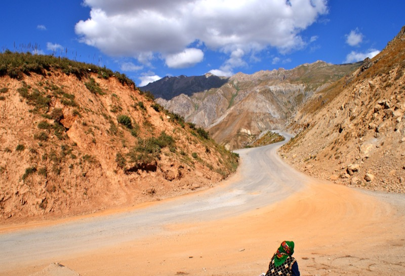 Getting off the beaten path along the Pamir Highway, Tajikistan. Photo credit: Caroline Eden