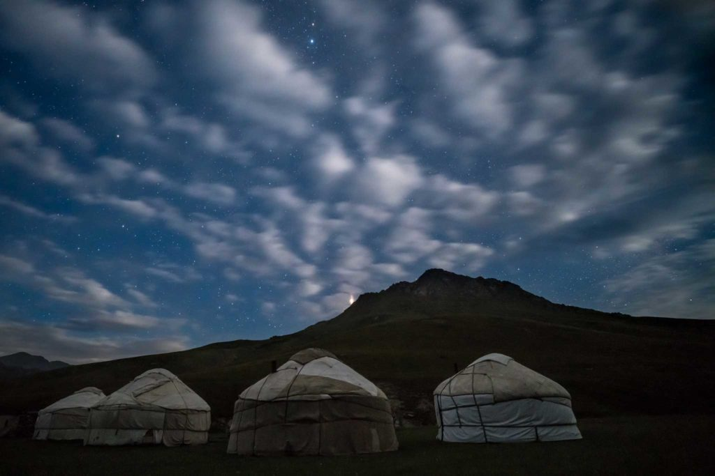 Starry night camping out in Tash Rabat. Photo credit: Jered Gorman