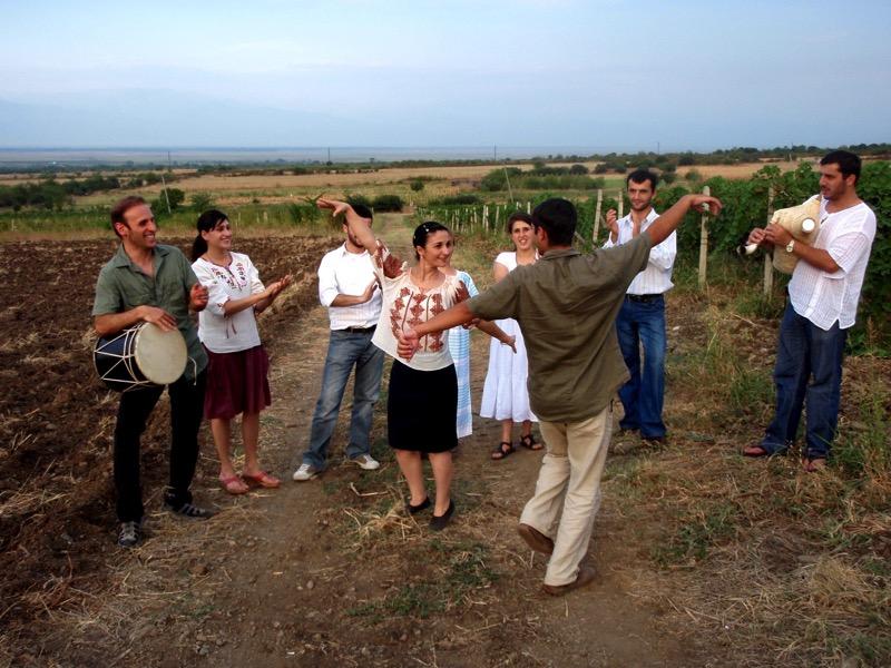Celebrating life in a Georgian vineyard. Photo credit: John Wurdeman