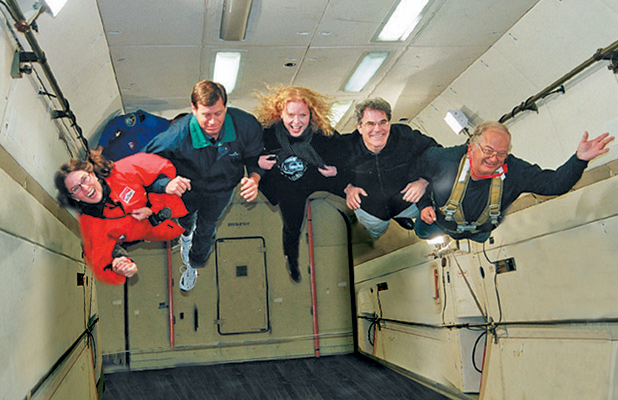 Soaring and floating in weightlessness aboard an Ilyushin-76. Photo credit: Douglas Grimes