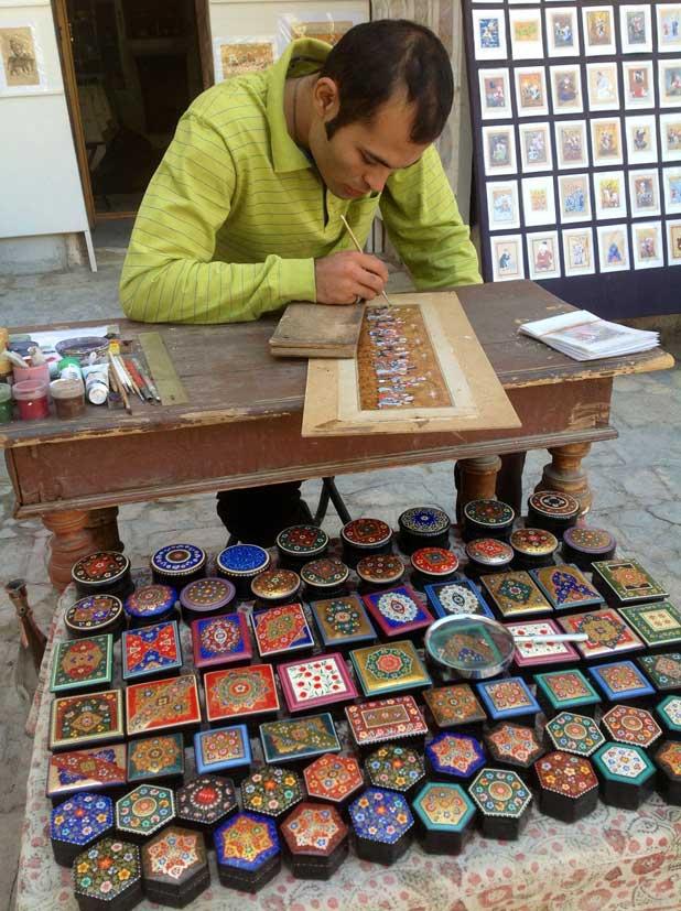 Painted lacquer boxes in Bukhara, Uzbekistan. Photo credit: Michel Behar