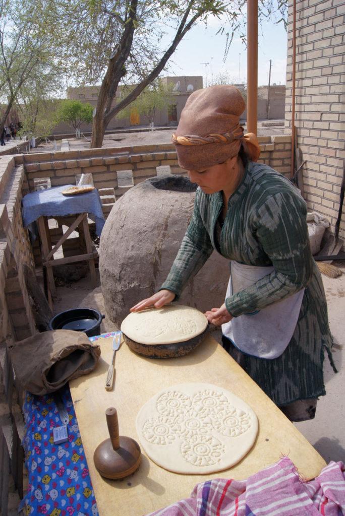 Bread baking in Khiva. Photo credit: Caroline Ed