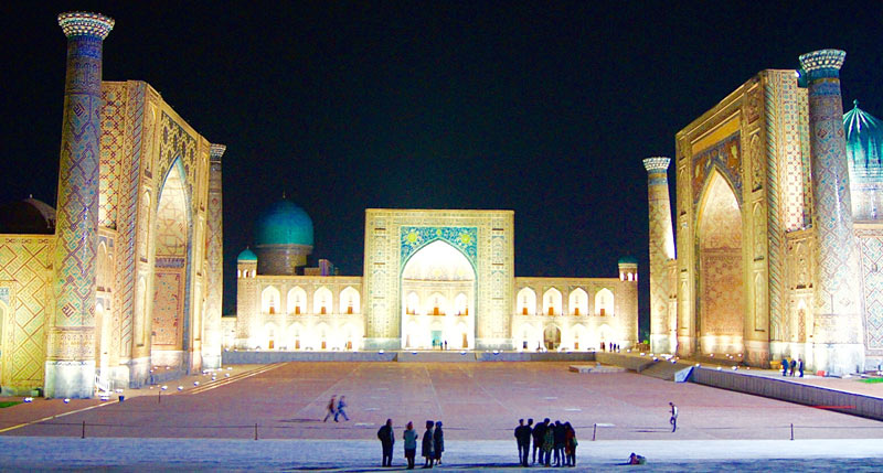 The Registan Complex is the crowning jewel of Samarkand. Photo credit: Caroline Eden