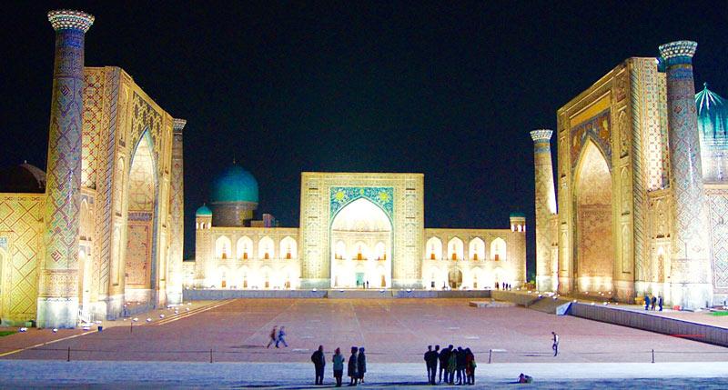 The Registan Complex is the crowning jewel of Samarkand. Photo credit: Caroline Eden