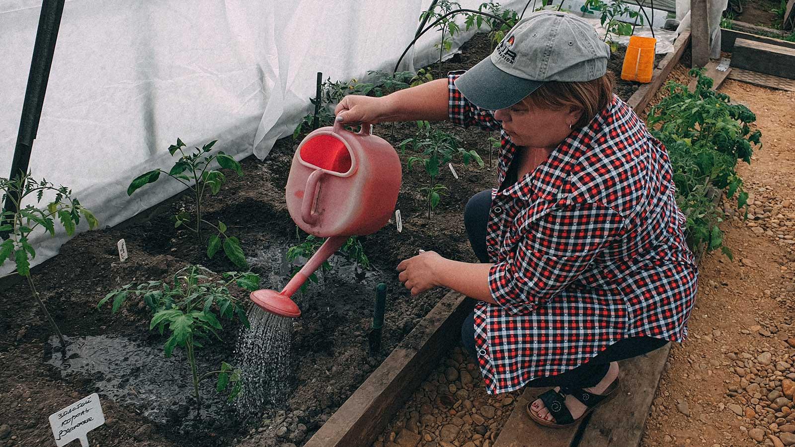 Gardening in Irkutsk, Siberia. Photo credit: Alla Shishkina