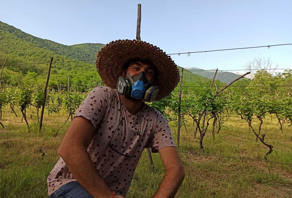 Davit in his own vineyard in Georgia. Photo credit: Davit Nozadze