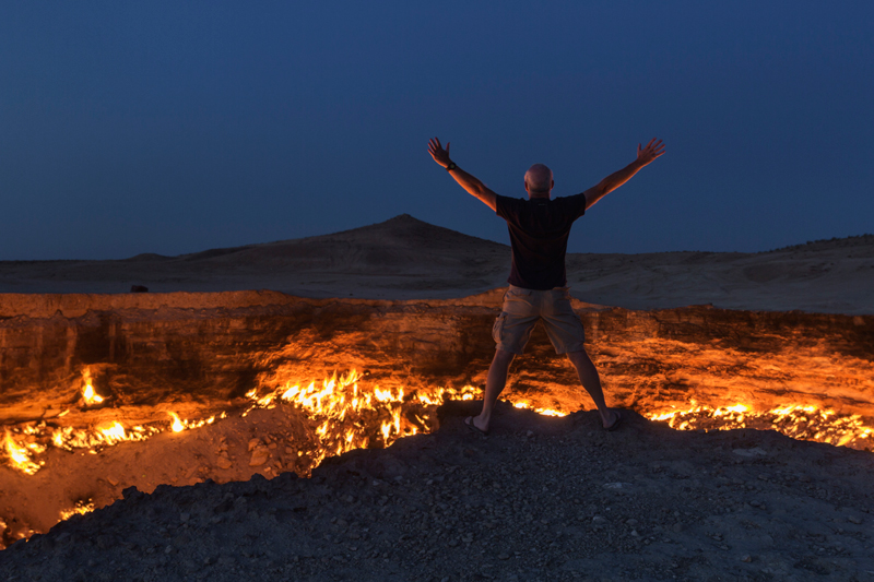 Darvaza Gas Crater, Turkmenistan. Photo credit: Jeremy Woodhouse