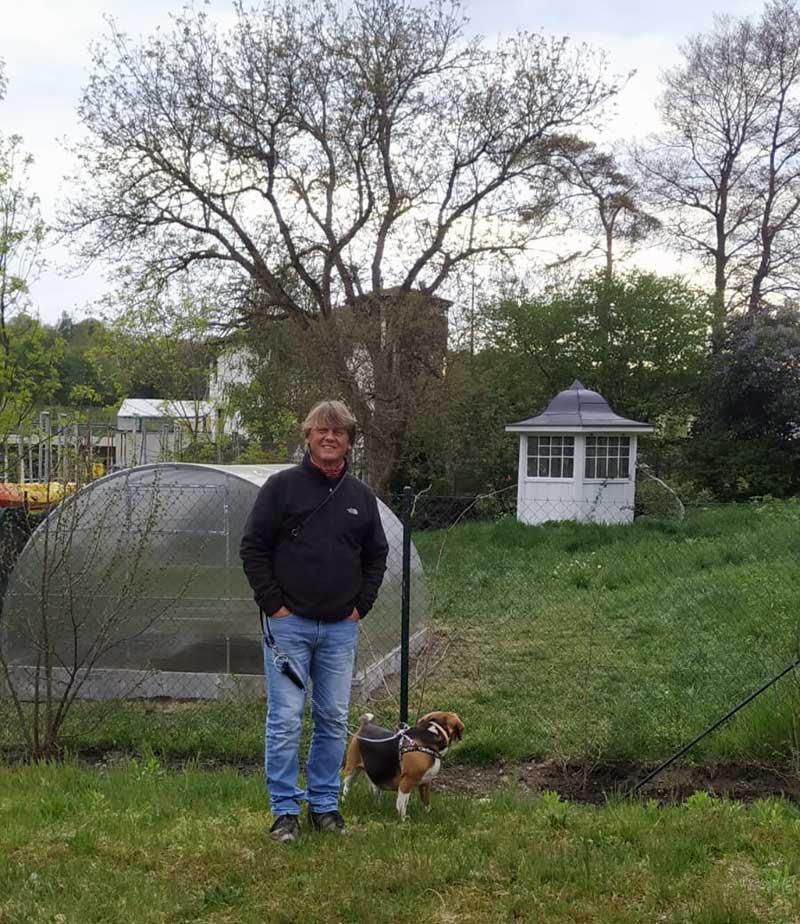 Martin Klimenta helped build this sturdy greenhouse.