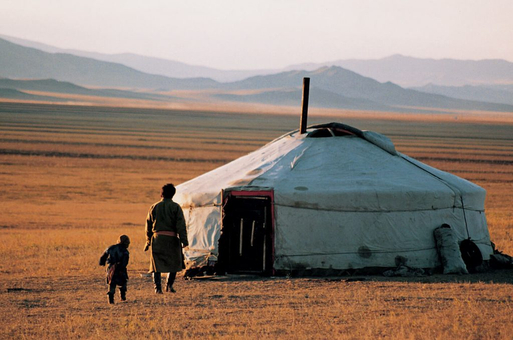 Ger life on the Mongolian steppe.