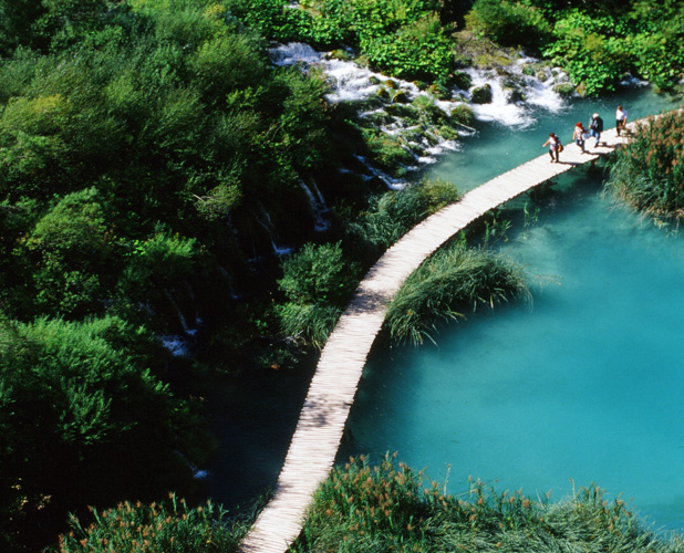 The blue hues of Plitvice's lakes in Croatia are simply indescribable. Photo credit: Peter Guttman