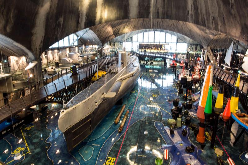The eye-popping 21st-century Seaplane Harbor Museum in Estonia's capital, Tallinn. Photo: Seaplane Harbor Museum