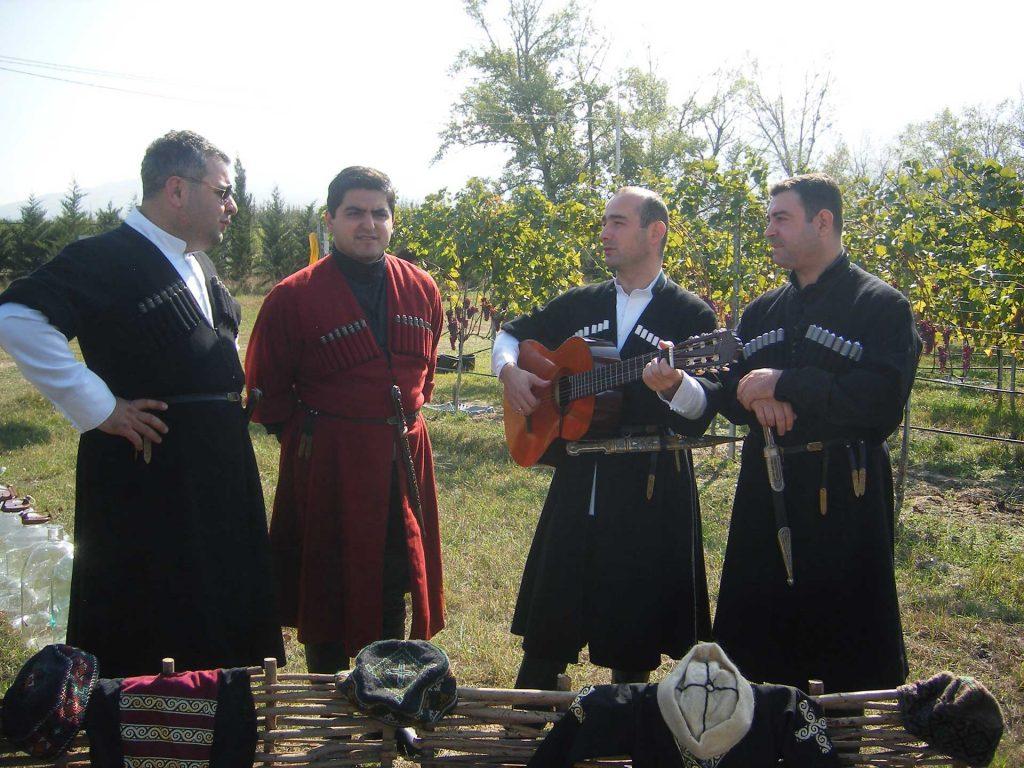 Enjoying music in a Georgian vineyard. Photo credit: Mariana Noble