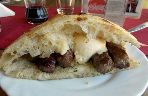 Ćevapi is the national dish of Bosnia and Herzegovina, with ingredients varying from town to town. Photo credit: Lisa Peterson
