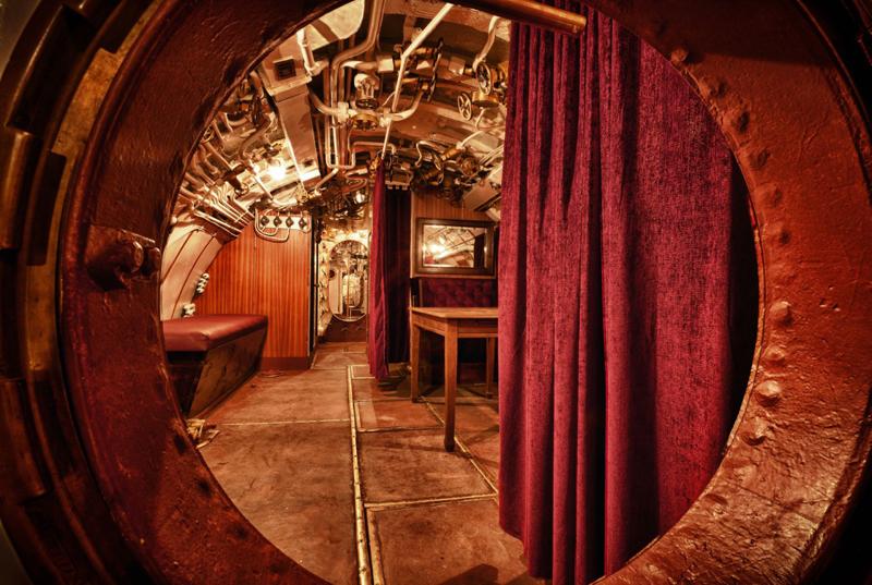 Navigator's table inside EML Lembit submarine. Photo credit: Seaplane Harbor Museum