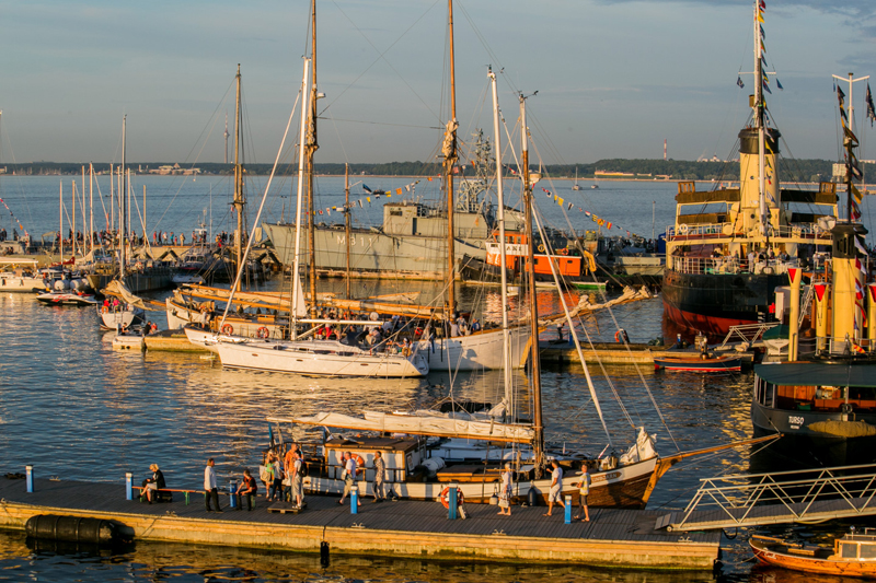 Historic Estonian ships and boats in the harbor of the museum. Photo credit: Seaplane Harbor Museum