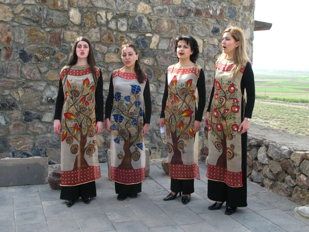 A live a cappella concert in Armenia's Khor Virap Monastery