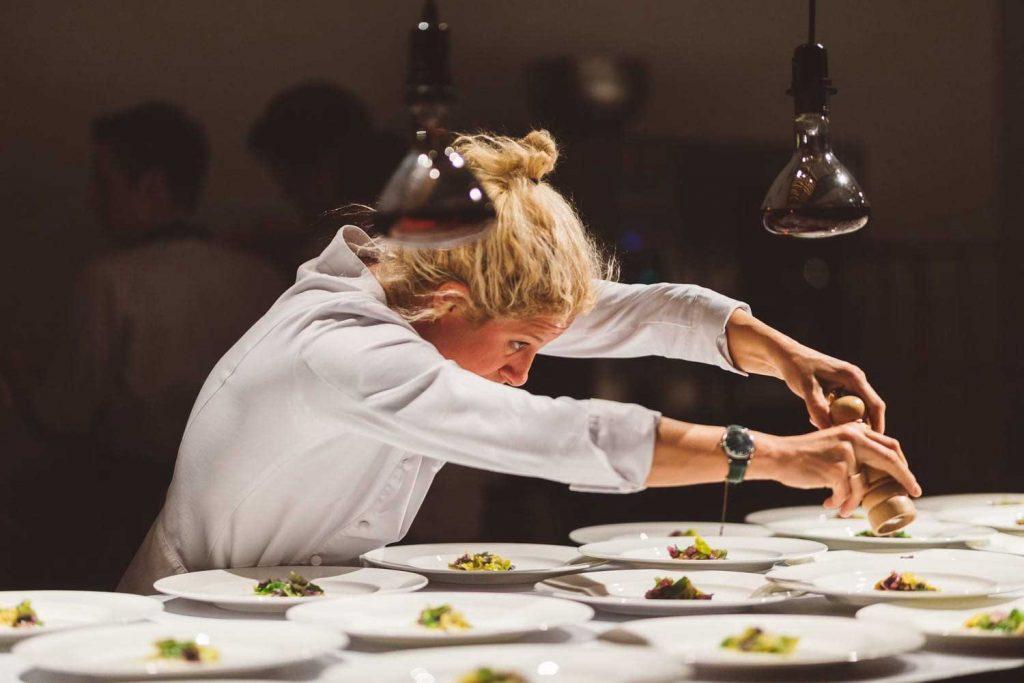 2 Michelin stars went to chef Ana Roš of Restaurant Hiša Franko for her modern interpretation of traditional cuisine and extraordinary food experience. Photo credit: Nino Verdnik - Slovenia Tourist Board