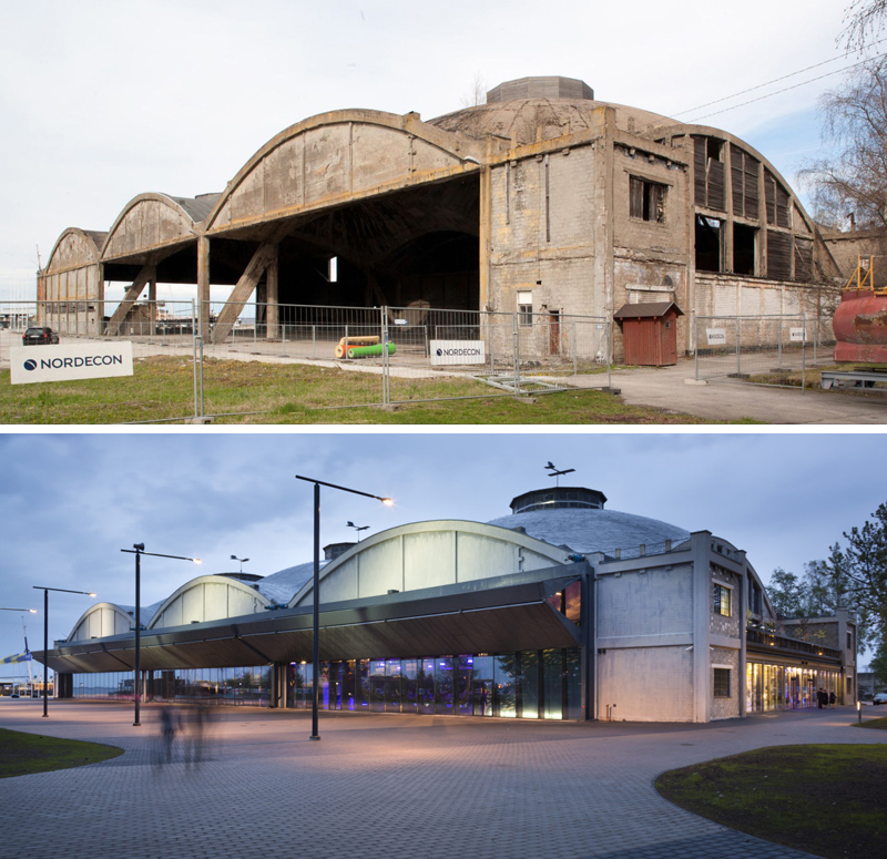 From derelict building to cutting-edge museum. Photo credit: Seaplane Harbor Museum
