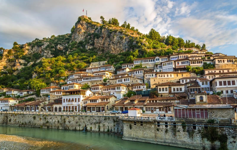 A sweeping view of the River Osum from Berat, Albania. Photo credit: Peter Guttman