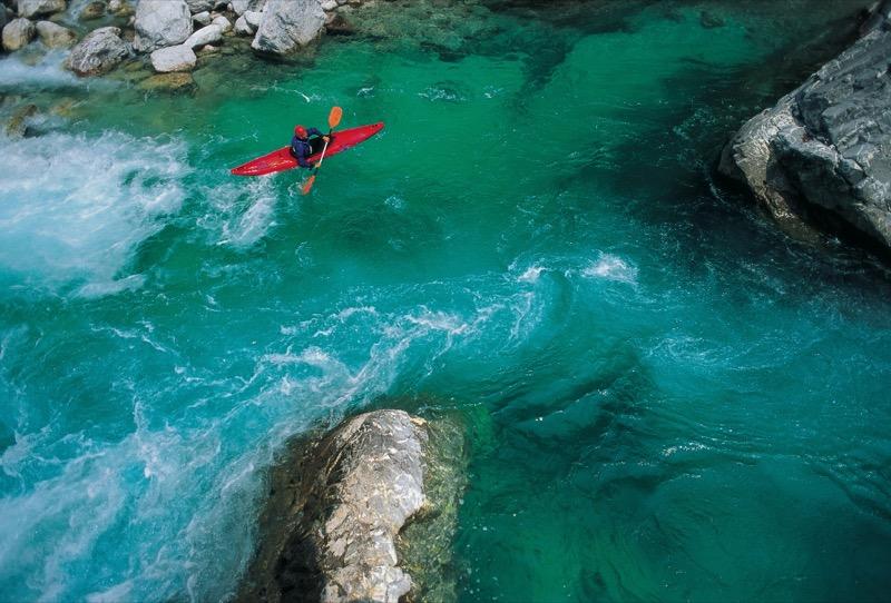 Kayaking in the Soca River. Photo credit: J. Skok / www.slovenia.info