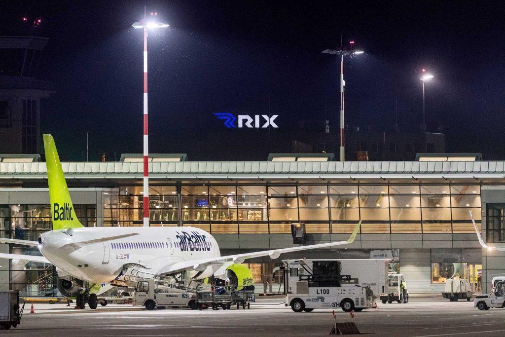 The Riga airport (Latvia)