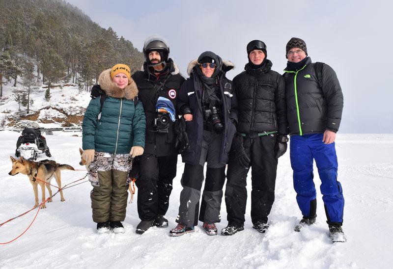 Doug and his travel companions celebrating winter in Siberia. Photo credit: Douglas Grimes