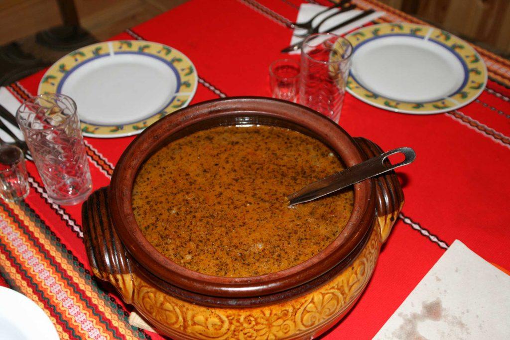 Bob chorba, a bean soup that is a tradition in Bulgaria.