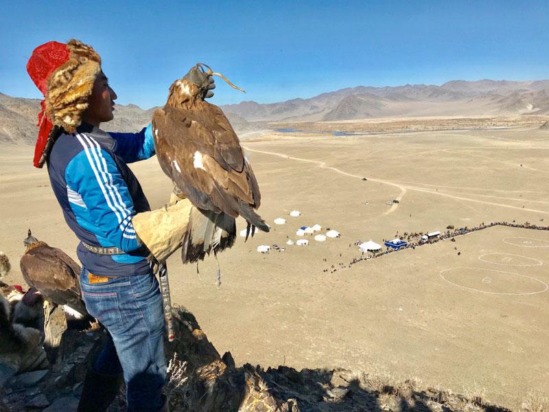 A birds's eye view of the grand Golden Eagle Festival. Photo: Michel Behar