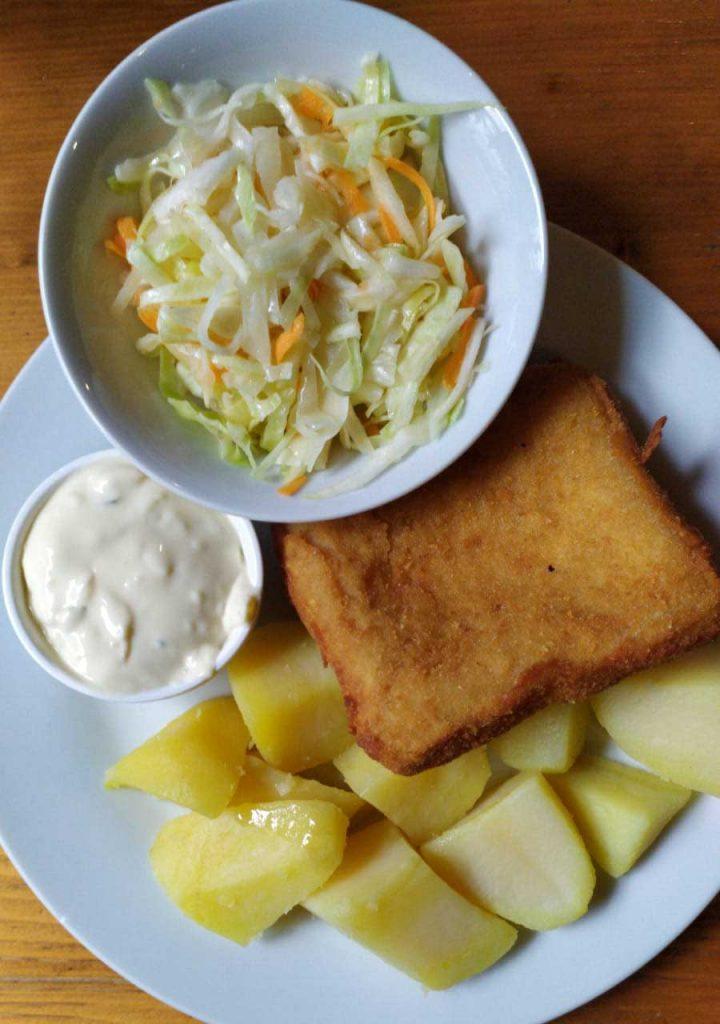 Fried cheese, Martin's favorite dish (Czech Republic). Photo credit: Martin Klimenta