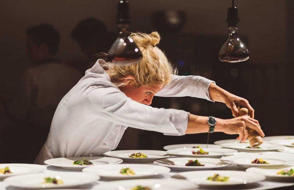 Award-winning chef Ana Roš of Hiša Franco restaurant in Kobarid, Slovenia. Photo credit: Nino Verdnik